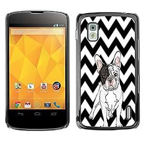- Ocean Seas - - Monedero pared Design Premium cuero del tir¨®n magn¨¦tico delgado del caso de la cubierta pata de ca FOR LG Goole Nexus 4 E960 Funny House
