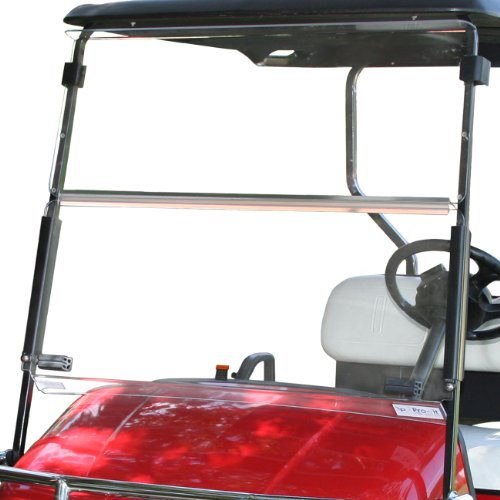Pro Fit Pf10915 Clear Split Windshield For Ezgo Txt