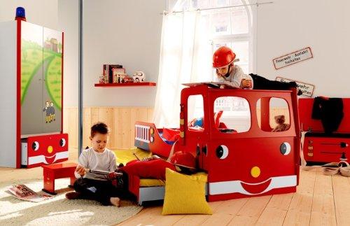 Feuerwehrbett Doppelbett Etagenbett : Kinderbett feuerwehrbett fire engine for two amazon küche