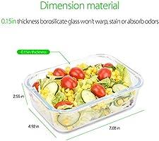 Symbom [3 Paquete] Fiambrera 1L Bento Lunch box Vidrio ...
