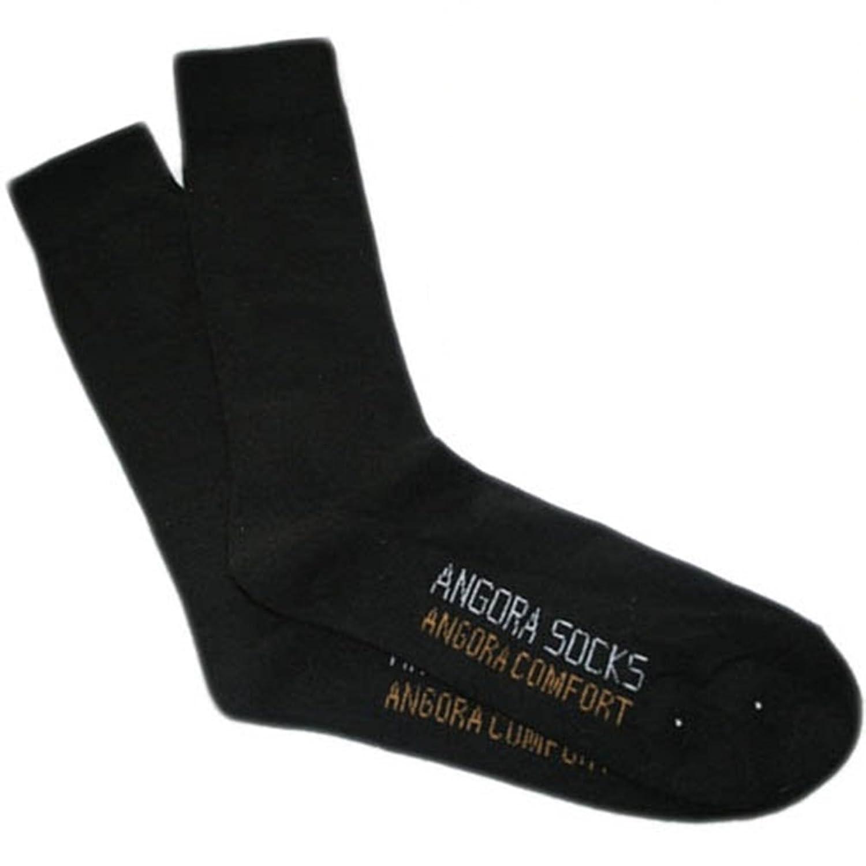 Angora Socken schwarz für Damen und Herren 3 Paar