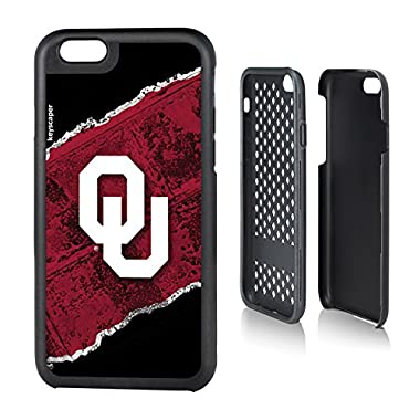 Oklahoma Sooners iPhone 6 & iPhone 6s Rugged Case officially licensed by the University of Oklahoma for the Apple iPhone 6 by keyscaper® Durable Two Layer Protection Shock Absorbing