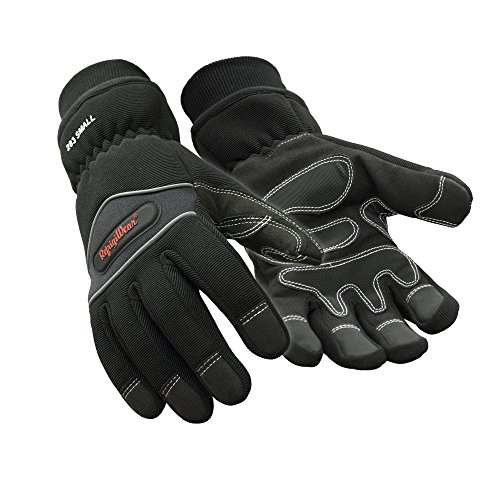 RefrigiWear Waterproof Fiberfill Insulated Tricot Lined High Dexterity Work Gloves (Black, Medium)