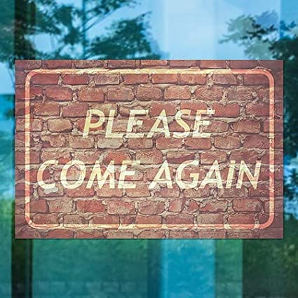 12x12 Please Come Again CGSignLab Nautical Wood Window Cling 5-Pack