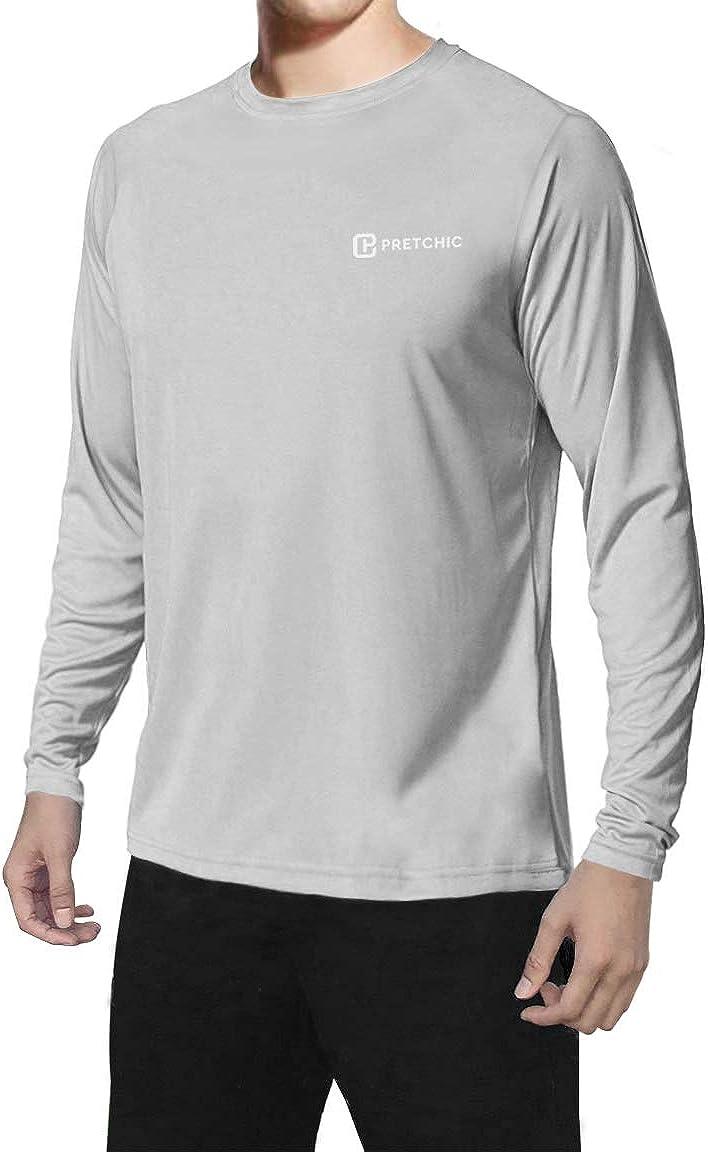 PretchicMen's UPF 50+ UV Sun Protection Quick Dry Outdoor T Shirt