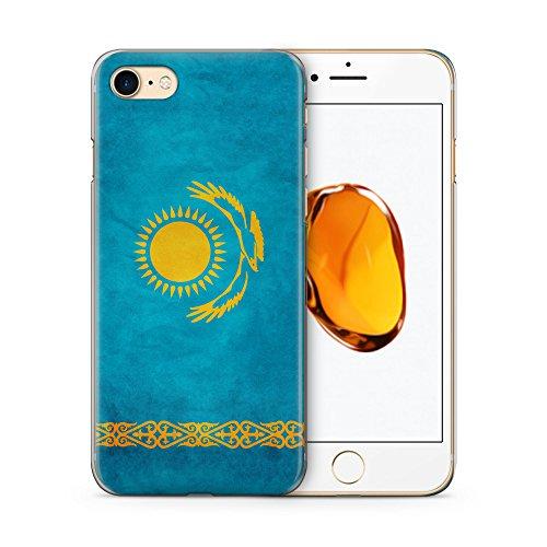 Kasachstan Kazakhstan Hülle für iPhone 7 SLIM Hardcase Cover Case Schutz Handyhülle Flagge Flag