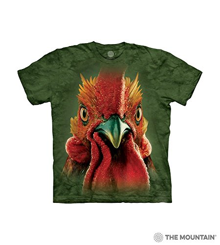 Rooster Head XL Cotton Roosters T-Shirt Malachite Child Boy's Girl's Short Sleeve T-Shirt