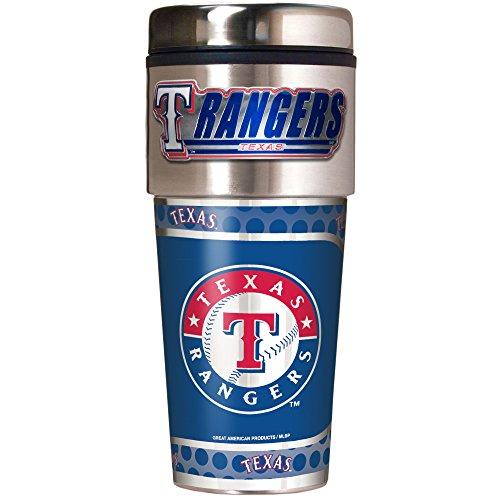 MLB Texas Rangers Metallic Travel Tumbler,  16-Ounce