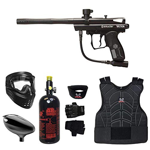 MAddog Kingman Spyder Victor Beginner Protective HPA Paintball Gun Package - Black