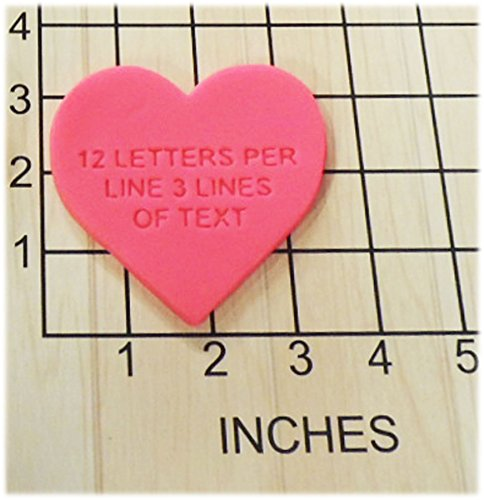 Personalized Heart Shape Fondant Cookie Cutter and Stamp - Cookie Cutters Personalized