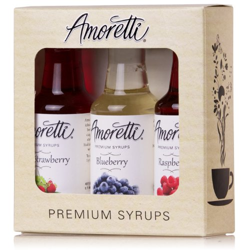 - Amoretti Premium Berry Syrups 50ml 3 Pack (Wild Strawberry, Blueberry, Raspberry)