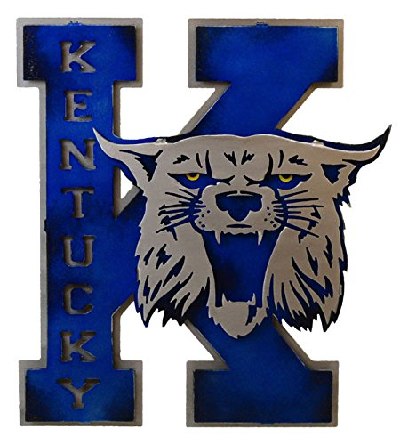 Gear New University of Kentucky Vintage 70s K 3D Metal College Man Cave Art, Large, Blue/Grey by Gear New (Image #2)