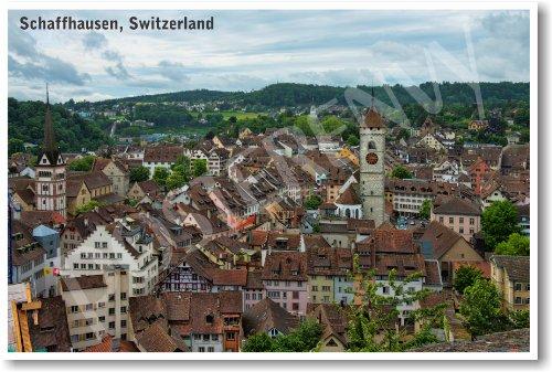 Schaffhausen Switzerland - New World Travel Poster