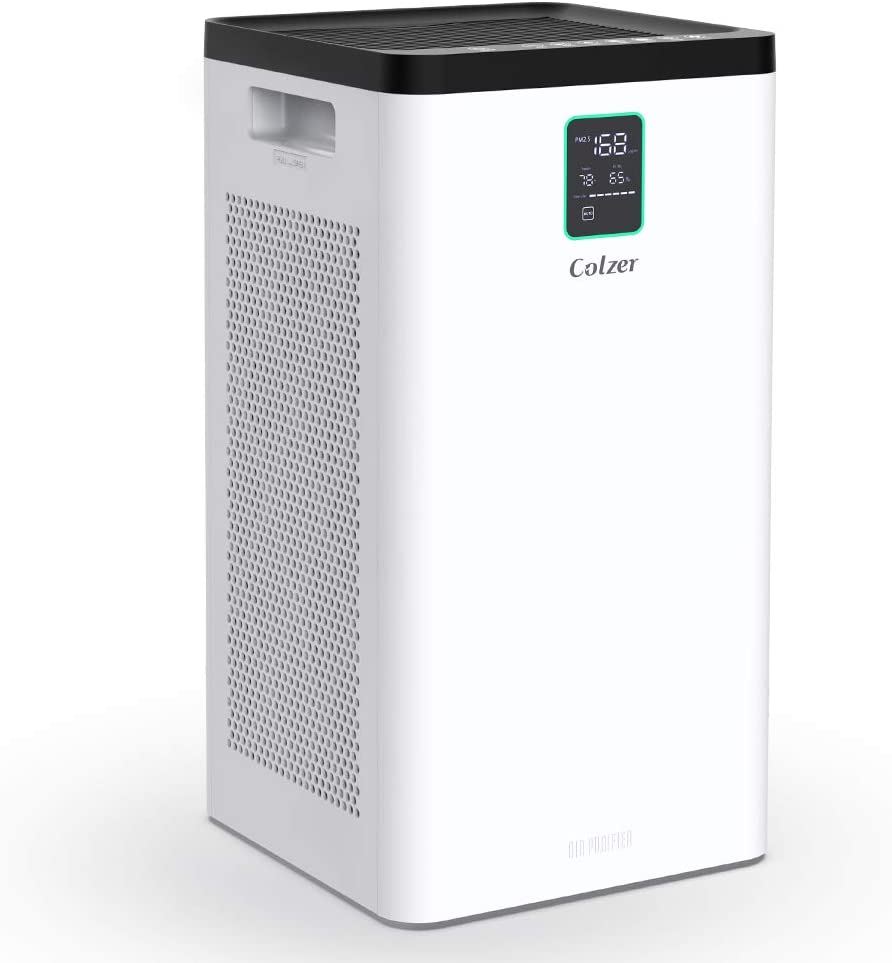 Colzer Air Purifier with True HEPA Air Filter, 3-Stage Filtration, for Spaces Up to 900 Sq Ft, Perfect for Bedroom/Home/Office with Filter