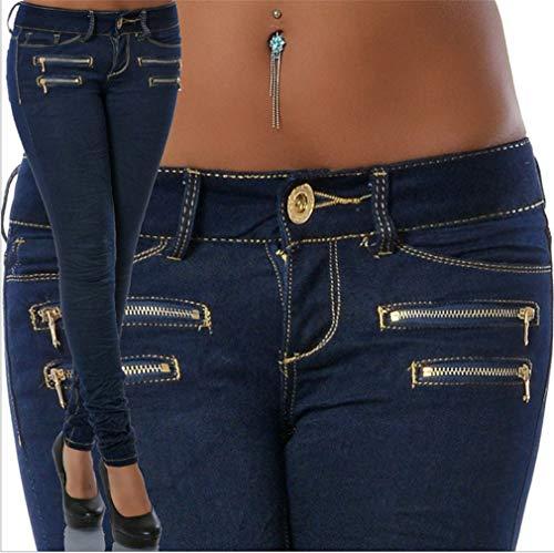 1 Leggings Couleur pour Jeans Solide Droit Crayon Up Skinny 3XL Slim Comfort Juqilu Mode S Denim Basse Push Femme Taille OHBww0xqg