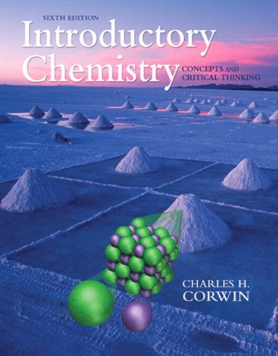 Introductory Chemistry: Concepts and Critical Thinking, Books a La Carte