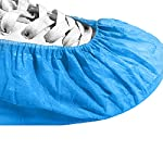 200Pcs Shoe Covers for Indoors Disposable, LyncMed Slip- Resistant Booties Covers, Large Size Durable Shoe Cover for Men & Women