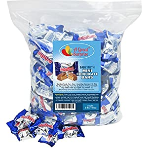 Baby Ruth Mini Chocolate Bars, 3 LB Bulk Candy