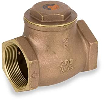 smith cooper international 9191 series brass swing check valve 1 npt female non potable water. Black Bedroom Furniture Sets. Home Design Ideas