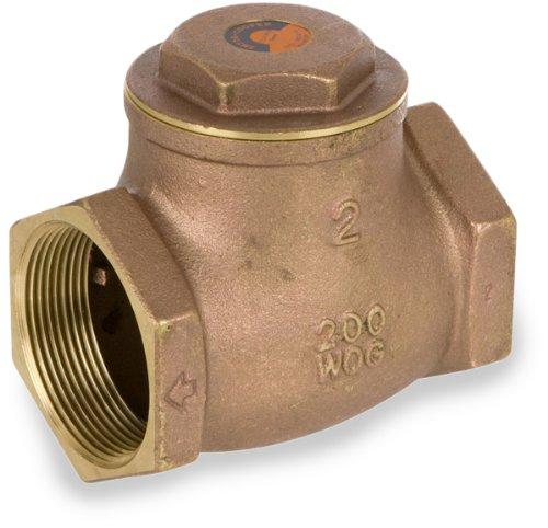 - Smith-Cooper International 9191L Series Brass Swing Check Valve, Potable Water Service, 1-1/4