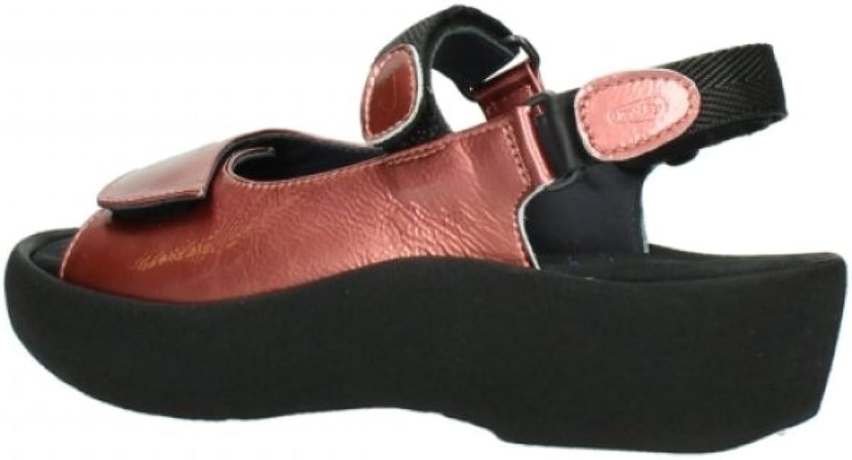 Wolky Comfort Sandalen Rio 80530 Korallenrot Lackleder