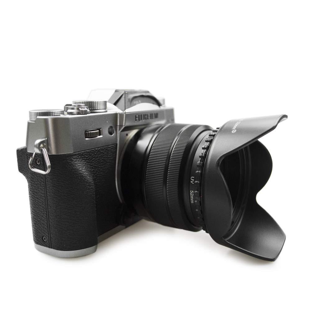 D Tapa para Lente de 58mm kinokoo Kit de Accesorios para Lentes de c/ámara con Filtro UV de 58mm para Fuji X-T30 X-T20 X-T10 X-T3 X-E3 X-T2 X-E2 X-E1 Parasol Reversible de 58mm