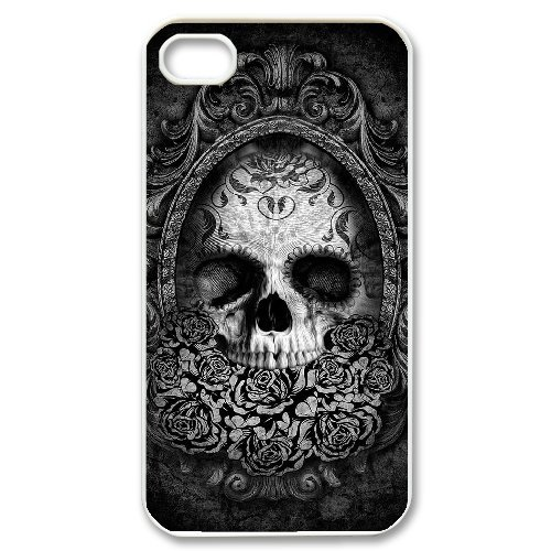 Andy iPhone 4,4s Case,Personalized Custom Fashion Skull,Unique Design Protective TPU Hard Phone Case Cover
