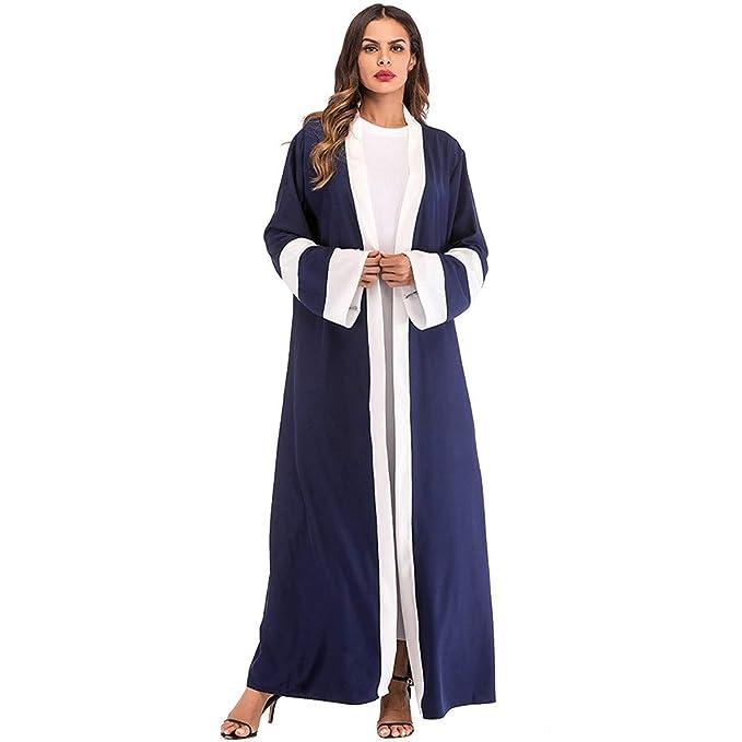 cccc73fc935 Muslim Cardigan Dress Boho Style Long Sleeve Maxi Dress Women Shirt Dresses  Floral Print Vintage Muslim