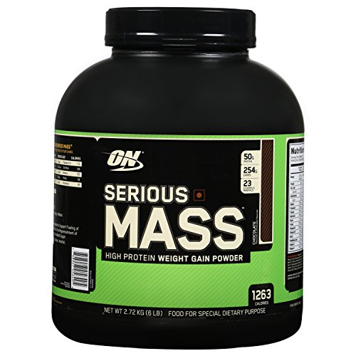 Optimum Nutrition Serious Mass Gainer Protein Powder, Chocolate, 6 Pound