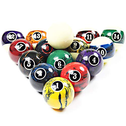 Professional Pool Balls/Billiard Balls Set, Complete 16 Balls for Pool Tables