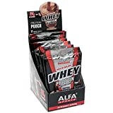 Maximum Whey Protein Chocolate/Vanilla 25g of Protein 2lb. By Alfa Sports - BODYBUILDING - IMPROVES PERFORMANCE AND DEFINITION - 0% OF FAT, CARBS, CHOLESTEROL AND SUGARS - 12 Pouches