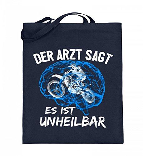 Shirtee SPCHHAAX_XT003_38cm_42cm_5739 - Bolso de tela de algodón para mujer Azul azul 38cm-42cm Deep Blue