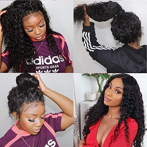 5X5 Closure Wigs Human Hair Preplucked Water Wave Wig With Closure Brazilian Virgin Hair Free Part With Baby Hair Wet And Wavy 100% Remy Human Hair Same Day Delivery Grade 9A Short Wigs 14 Inch