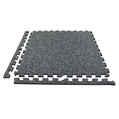 Warmer Foot Mat (IncStores Premium Soft Carpet Foam Tiles 2ft x 2ft (25 Tiles, Dark Grey) Interlocking Home & Trade Show Flooring Foam Mats Including 2 Edge Pieces)