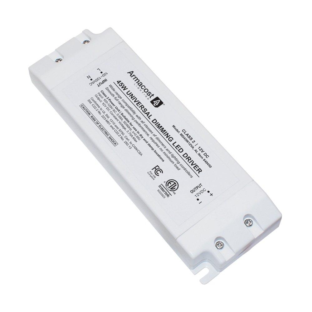 Armacost照明ユニバーサル45ワット調光ドライバ、12ボルトDC電源供給ユニットfor LEDテープライトストリップとその他の12ボルトLED照明ユニット B01IY81HO2 23866