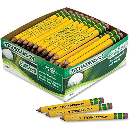 72 Lapices de bolsillo con goma para golf