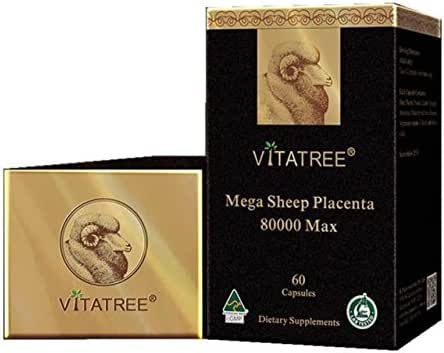 VitaTree Mega Sheep Placenta 80000 Max 60 Capsules Made In Australia