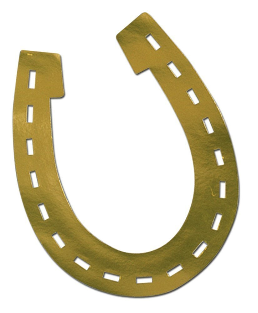 Beistle 55971 Foil Horseshoe Silhouette, 17-Inch, 24-Pack by Beistle