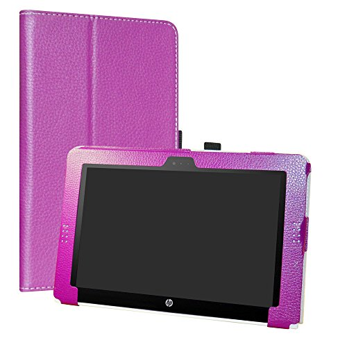 HP Pavilion x2 10 / HP x2 210 G1 Case,LiuShan PU Leather Slim Folding Stand Cover for 10.1