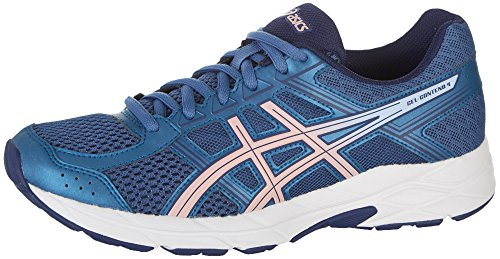 ASICS Womens Gel-Contend 4 Low Top Lace Up Running, Azure/Frosted Rose, Size 7.5