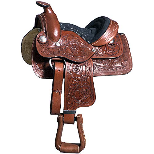 Great American 8″ Kids Youth Children Miniature Pony Saddle Leather Western Toddler