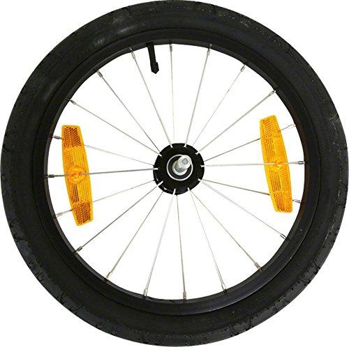 Burley Erwachsene Alu Laufrad, schwarz, 16 Zoll
