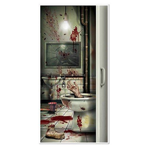 Beistle Creepy Crapper Restroom Door Cover, 30-Inch by
