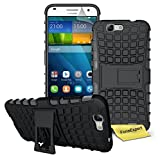 Huawei Ascend G7 Case, FoneExpert® Heavy Duty Rugged Impact Armor Hybrid Kickstand Protective Cover Case For Huawei Ascend G7 + Screen Protector & Cloth (Black)