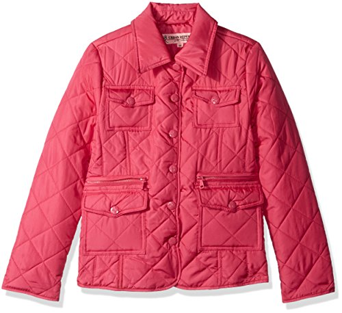Urban Republic Little Girls' Quilted Thinfill Lightweight Jacket, Hibiscus Pink, 6X