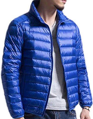 Inverno Eku Piumini Blu Solido Cappotto Reale Caldo Mens Di S Leggeri Bqwtqx1AS