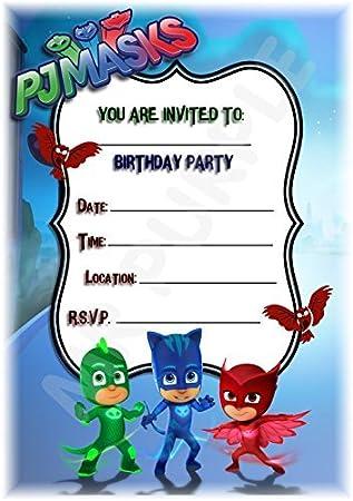 PJ máscaras cumpleaños fiesta invita a – marco de fotos (diseño – accesorios de fiesta