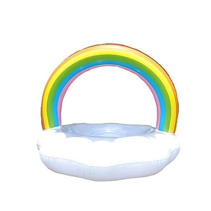 Yunt Flotadores de Piscina, Anillo de Flotador de Tubo Inflable, Sentado a Caballo Rainbow