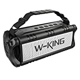 W-KING 50W Bluetooth Speaker, Portable Wireless Speakers Waterproof with 24 Hours Playtime, 8000mAh Battery Power Bank - Enhanced Powerful Bass, TWS Subwoofer with NFC for Indoor/Outdoor - Black