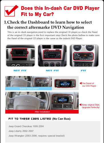 SDB Car DVD Player With GPS Navigation(free Map) For Jeep